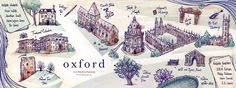 Literature & Nature in Oxford, England  http://www.theydrawandtravel.com/