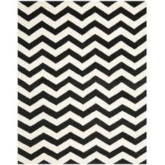 Rug for Living Room?  Found it at Wayfair - Chatham Chevron Ivory & Black Area Rug