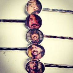 Dave Grohl Foo Fighters silver bobby pin