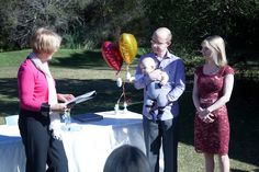 park ceremony. Baby Namings can be held in a variety of venues.
