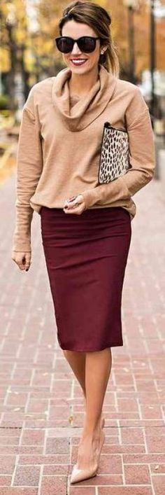 d31c1f919a 20 Ways To Rock A Pencil Skirt Outside Of The Office. Winter Outfits  WomenClassy Winter OutfitsWinter Dress ...