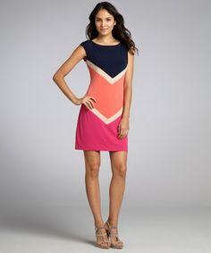 http://www.bluefly.com/Donna-Morgan-navy-colorblock-chevron-knit-jersey-shift-dress/cat60019/320654801/detail.fly#