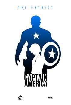 The Avengers by Kevin Collert - The Patriot Captain America  #Marvel #Avengers #CaptainAmerica