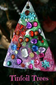 .KIds Craft Tin Aluminum Foil Jewel Tree Tissue Paper