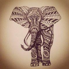 Awesome elephant doodling