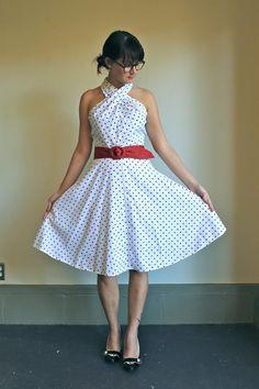 Spring Day Dress  /  Vintage Polka Dot Dress  / by babybirdvintage, $38.00