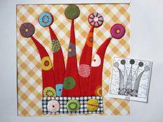 Pattern Blocks, Quilt Patterns, Block Patterns, Hand Applique, Japanese Fabric, Textiles, Quilt Blocks, Advent Calendar, Quilts