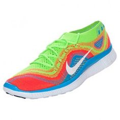 Hombre Nike Free Flyknit+ zapatillas corrientes de arco iris
