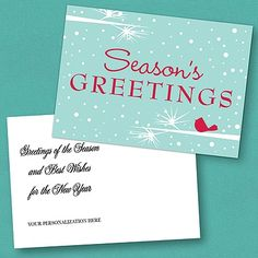 Winter Perch Holiday Postcard - Blue weddingneeds.carlsoncraft.com