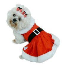 Vestido Pet - Mamãe Noel - Tam. 00 ao 03