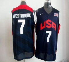 5f68e4dcfa0 Nike 2012 Olympics Team USA  7 Russell Westbrook Dark Blue Stitched NBA  Jersey