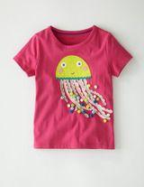 Pompom Appliqué T-shirt