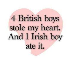 4 british Boys stole my heart and 1 irish boy ate it ♥♥♥♥♥♥♥♥♥♥♥♥