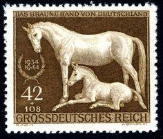 "1944 -Derby ""Cinta Parda"" -Last engraved stamp by the third reich"