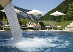 The Sonne Lifestyle Resort in Mellau in the Bregenzerwald skilfully combines tradition and modernity. Design Hotel, Hotel Austria, Net, Lifestyle, Building, Water, Outdoor Decor, Sun, Gripe Water