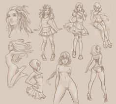 character sketches by lolita-art #character #sketch