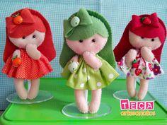 Artesanato em Feltro Felt Diy, Felt Crafts, Diy And Crafts, Felt Food Patterns, Baby Ornaments, Doll Maker, Tooth Fairy, Soft Dolls, Balloon Decorations