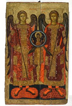 Synaxis of the Archangel Michael and the Other Bodiless Powers ~ 14th century, from the Bachkovo Monastery (which is 10 km south of Asenovgrad), now at The National Art Gallery - Sofia, Bulgaria