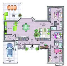 1000 id es sur le th me plan maison plain pied sur - Simulation plan maison ...
