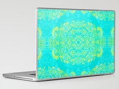 Laptop & iPad Skin - Thinking - 2 colour zest by Cally Creates $30