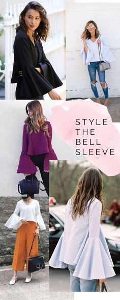 How to style bell sleeves // Dove blouse sewing pattern inspiration // Megan Nielsen Design Diary