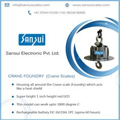 #SansuiElectronicsPrivateLimited has developed #CraneScale (Foundry) ranges from 5 ton to 50 ton capacity- www.sansuiscale.com Jewelry Scale, Weighing Scale, Red Led, Ranges, Acting, Scale, Range, Virgos, Libra
