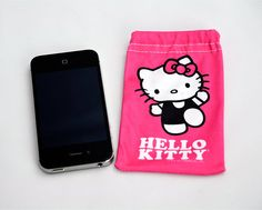 Hello Kitty® Mobile Cleaning Pouch- Works well with gaming devices for kids too! #stockingstuffer