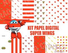 Kit papel digital Super Wings