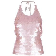 Sequins ❤ liked on Polyvore featuring tops, sequin top, pink top and pink sequin top