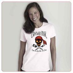 Cadouri pentru indragostiti – Tricou Captain cook Beach Bum, Cool Cats, Flamingo, Booty, T Shirts For Women, Tops, Fashion, Flamingo Bird, Moda