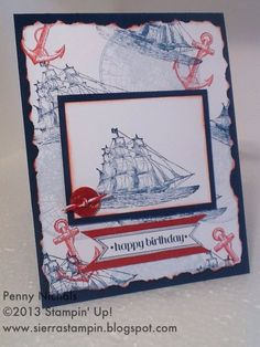 open sea globe stamp stampin up cards | Found on pennynichols.stampinup.net