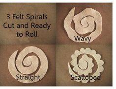 Spirals Cut - 3 Different edges