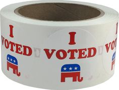 I Voted Republican Stickers  500 Voting Booth by TheDotSpotLane