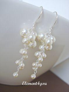 Peach Pearl Bracelet Bridesmaids Bracelet Chunky Pearl Bracelet