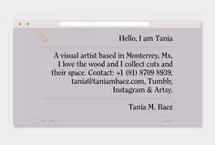 Picture of website designed by Made Office for the project Tania M. Baez. Published on the Visual Journal in date 22 January 2016