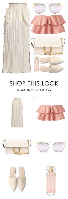 """""""Summer Look"""" by smartbuyglasses ❤ liked on Polyvore featuring Loewe, Chloé, Quay and Ivanka Trump"""