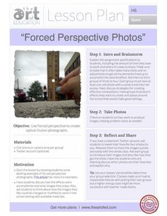 Forced Perspective Photos: Free Lesson Plan Download - The Art of Ed