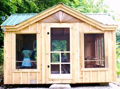 The versatility of this screen house means that it can be used as a guest house, enclosed porch, yoga studio & other options. Check out this Florida room kit! 10x10 Shed Plans, Free Shed Plans, Storage Shed Plans, Screen Porch Kits, Screen House, Room Screen, Shed Design Plans, Screened Gazebo, Loafing Shed