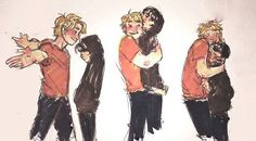 comic pjo digital art Nico di Angelo Heroes of Olympus will solace alien does art boo spoilers solangelo improving my day by drawing cute stuff Will Solace, Solangelo, Percabeth, Percy Jackson Ships, Percy Jackson Fandom, Rick Y, Trials Of Apollo, Rick Riordan Books, Fanart