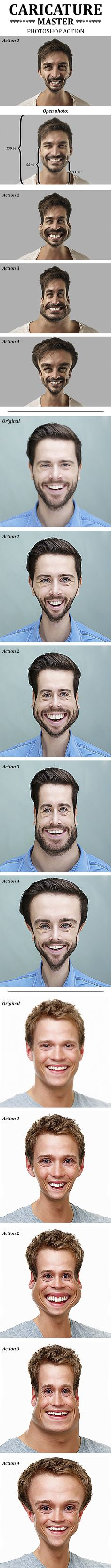 #Caricature Master Photoshop Action - #Actions #PSAction #Photoshop #PS #Graphicriver #PhotoEffects #Digitalart #Design #paint #painting #oilpaint