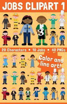 Jobs clip art set $