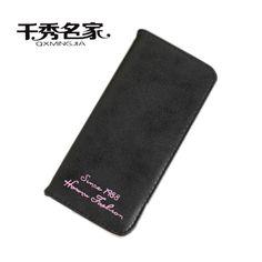 QXMINGJIA two fold simple Female long Purse Ladies' Wallets Letter Snap Fastener Zipper long Clutch Vintage Matte Women Wallet