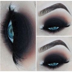 20 Perfect Club Makeup Looks Featuring Sexy Smokey Eyes! ❤ liked on Polyvore featuring beauty products, makeup, eye makeup, eyes, beauty and black