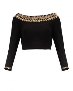 Black Gold Leaves Top - New Arrivals | SHOP NOW ON : http://bit.ly/NamrataJoshipura_shop