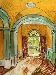 Vincent Van Gogh - Post Impressionism - Saint REMY - Vestibule de l'asile - 1889