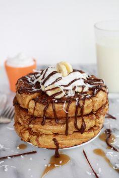 caramelized coconut banana bread waffle french toast | http://www.halfbakedharvest.com/