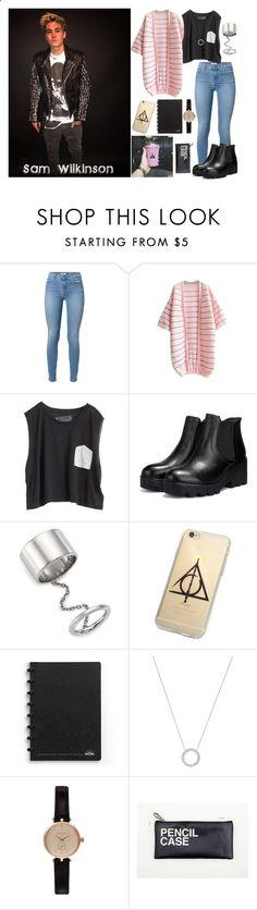 Sam Wilkinson by katerinabocharova ❤ liked on Polyvore featuring Blondes Make Better T-Shirts, JY Shoes, Elizabeth and James, Michael Kors, Barbour, womens clothing, womens fashion, women, female and woman