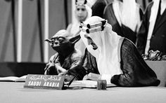 "Saudi history textbook features photo of King Faisal chilling with Yoda. 26-year-old Saudi artist Abdullah ""Shaweesh"" al-Sheri created a series of images depicting Star Wars characters worked into momentous Saudi historical photos, including one of Yoda."