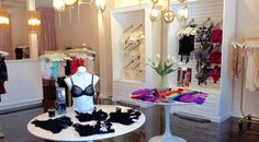 Lingerie Store Interior - The Little Drawer in Fairhope, Alabama.