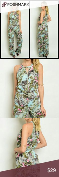"⚜️Casual jumpsuit⚜️ Fabric Content: 100% RAYON | Description: L: 60"" B: 36"" W: 26"" 